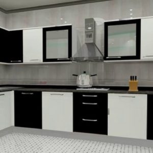 Modular Kitchen With M R Plywood